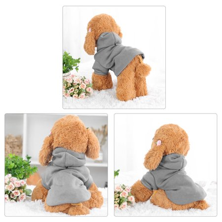 Cotton Dog Winter/Spring/Fall Sweatshirt Hoody Pet Clothes Warm Coat Grey XS - image 4 of 7