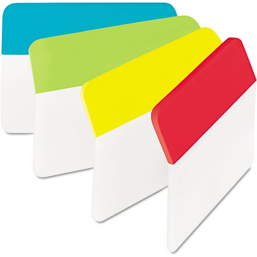 Post-it Angled Filing Tabs, 2 in wide, 24 Tabs