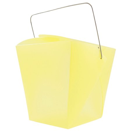 JAM Paper Plastic Chinese Take Out Containers - Large (4 x 3 1/2 x 4) - Yellow - 6/pack (Chinese Take Out Boxes Michaels)
