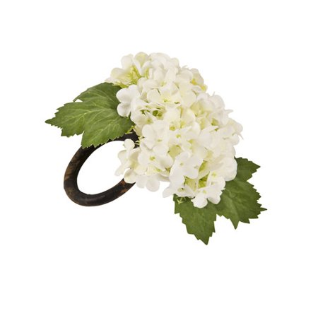 Saro Viburnum Napkin Rings (Set of 4)