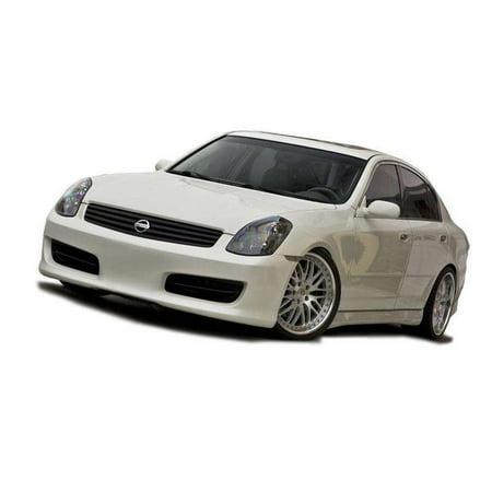 Infiniti G35 4DR Sedan 2003-2004 Hidori Style 1 Piece Polyurethane Front Bumper 4dr 1 Piece Projector
