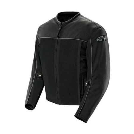 Cordura Mesh Motorcycle Jacket (Joe Rocket Velocity Mens Black Mesh Motorcycle Jacket )
