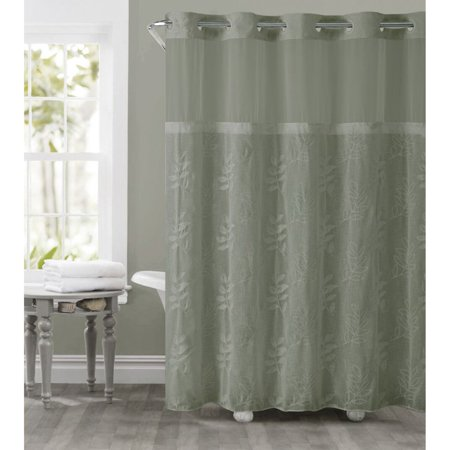 Palm Desert Shower Curtain - Hookless Moss Green Palm Leaves Polyester Shower Curtain