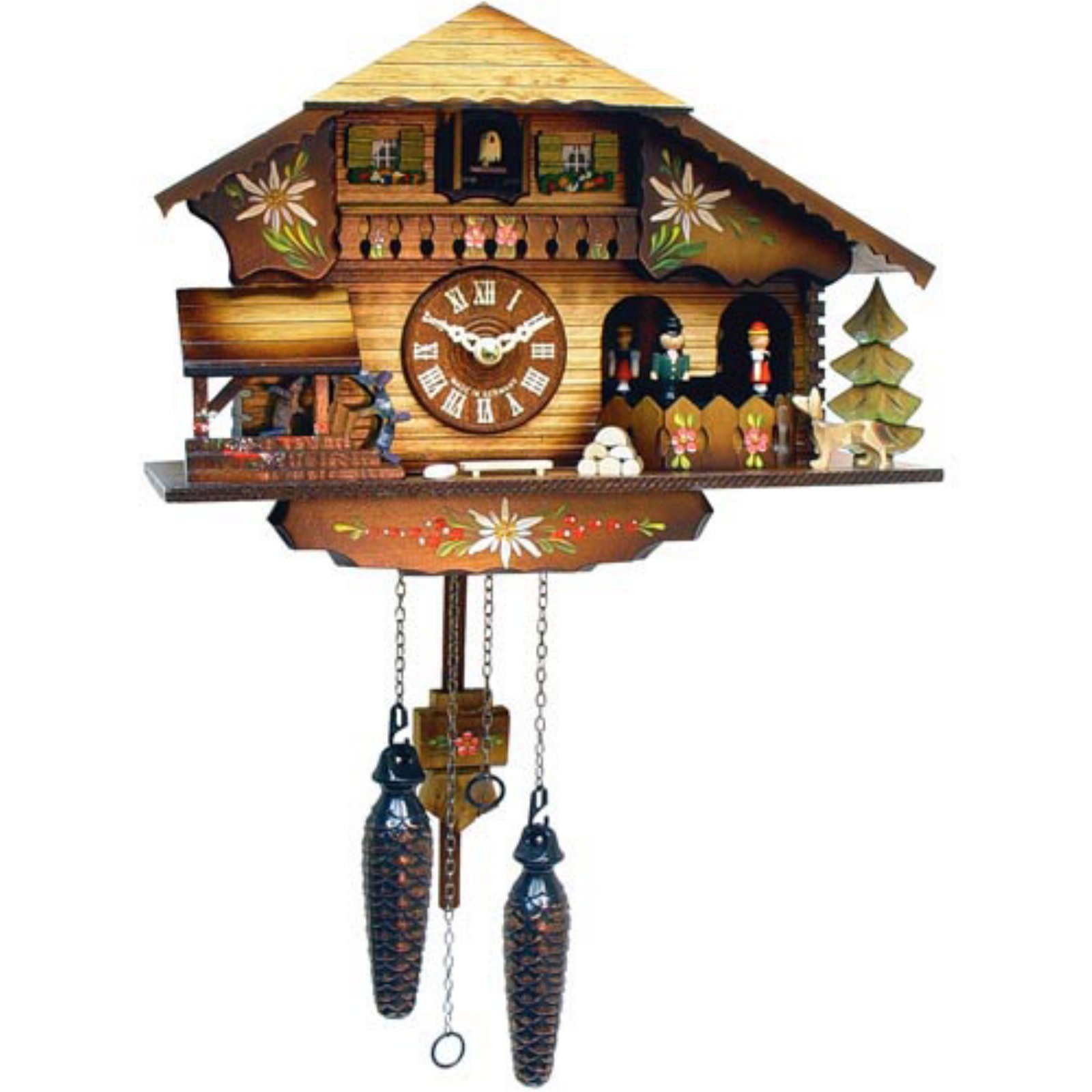 9 Inch Black Forest Beer Stein Cuckoo Clock