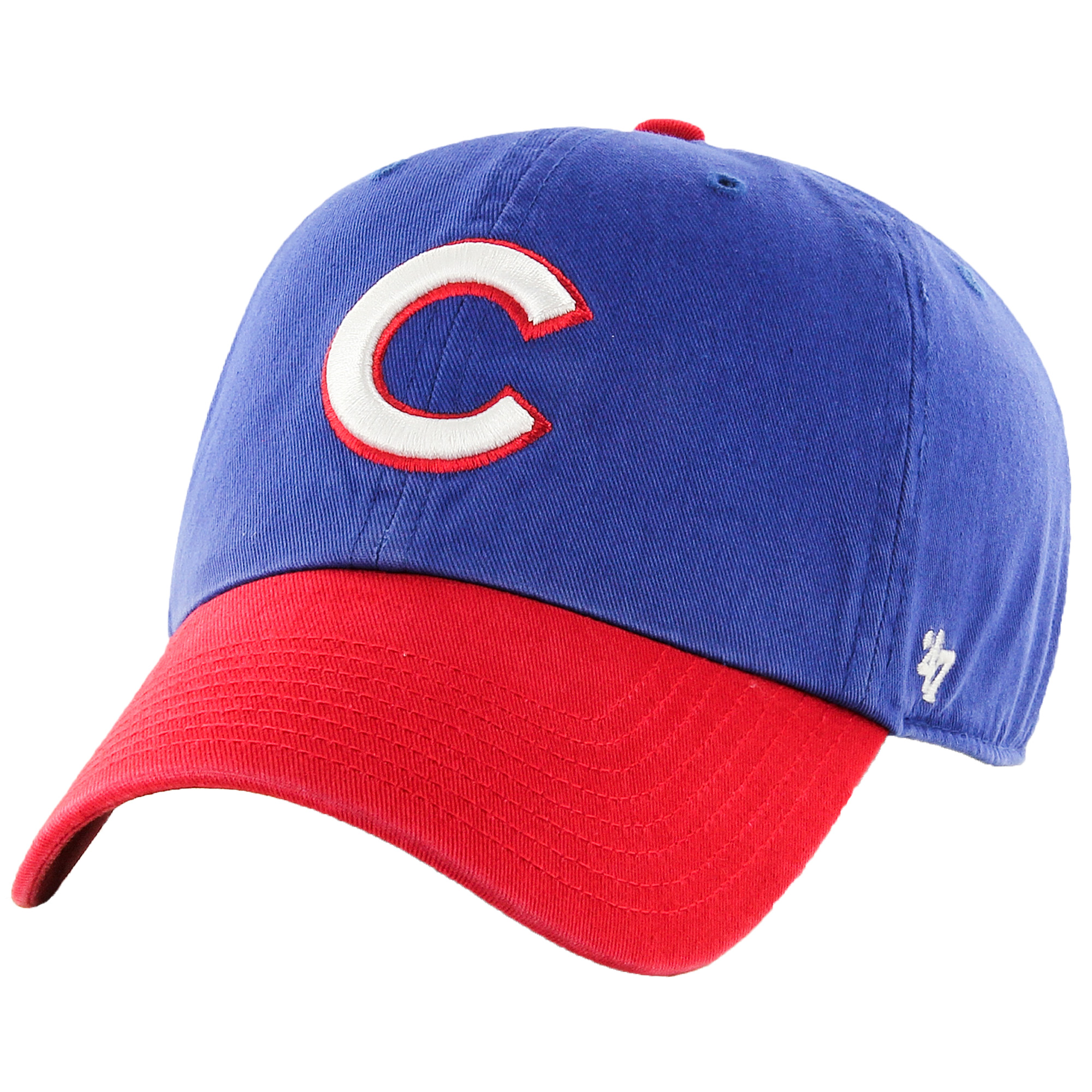 Chicago Cubs '47 Clean Up Batting Practice Adjustable Hat - Royal/Red - OSFA