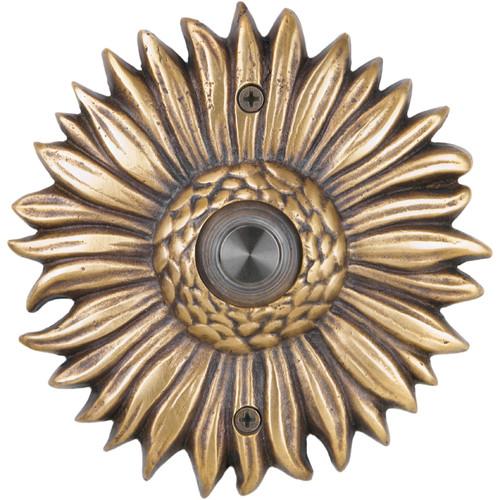 Waterwood Hardware Solid Brass Sunflower Doorbell
