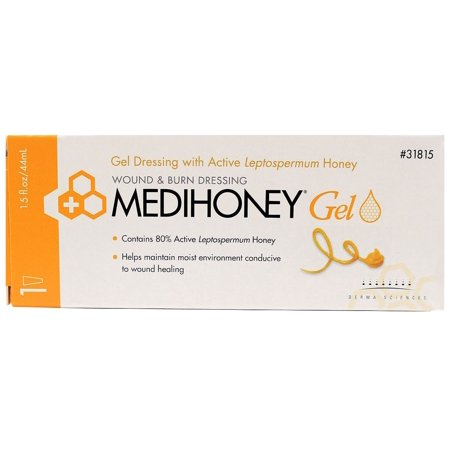 Medihoney Wound and Burn Gel Ointment - 1.5 Ounce Tube - Pack of