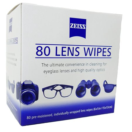Zeiss Pre Moistened Lens Cleaning Wipes 80 Count  ()