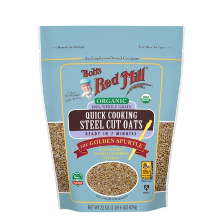 Bob's Red Mill Organic Quick Cooking Steel Cut Oats, 22-ounce ()