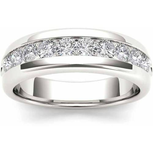 Imperial 7/8 Carat T.W. Diamond Men's 14kt White Gold Wedding Band