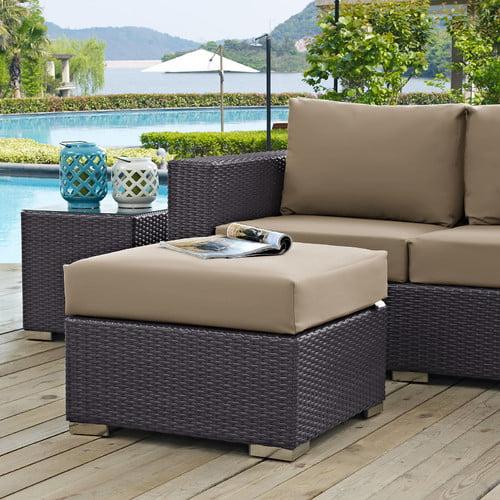 Latitude Run Ryele Outdoor Ottoman with Cushion