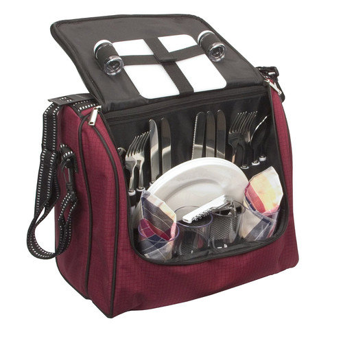 Fox Run Craftsmen Picnic Tote in Burgundy