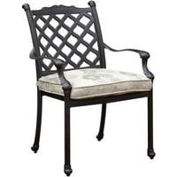 Furniture of America Trevie I Patio Dining Chair, Set of 4, Dark Bronze