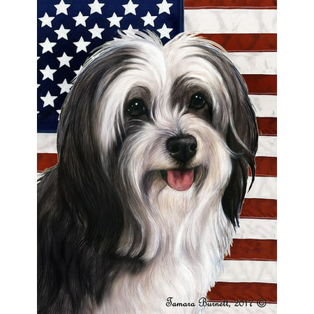Tibetan Terrier Black and White - Best of Breed  Patriotic II Garden
