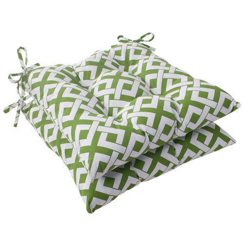 Pillow Perfect Boxin Outdoor Seat Cushion (Set of 2)