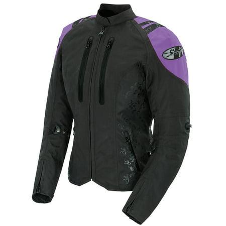 Joe Rocket Atomic 4.0 Womens Black/Purple Textile Motorcycle Jacket (Textile Motorcycle Jacket)
