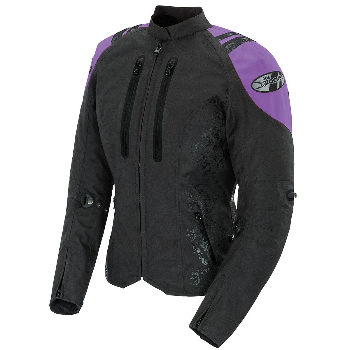 Joe Rocket Atomic 4.0 Womens Black/Purple Textile Motorcycle Jacket