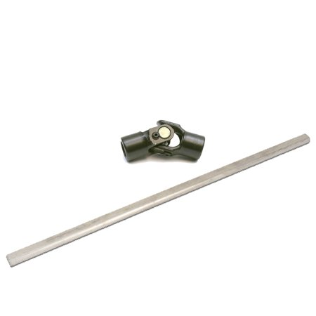 Universal 18 Inch Double D Steering Shaft and U-Joint