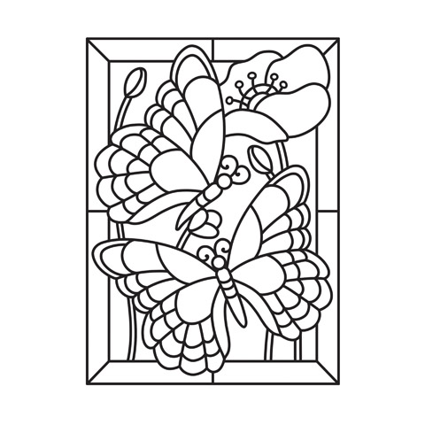 Embossing Folder Mosiac Butterfly 4.25X5.75 By Darice