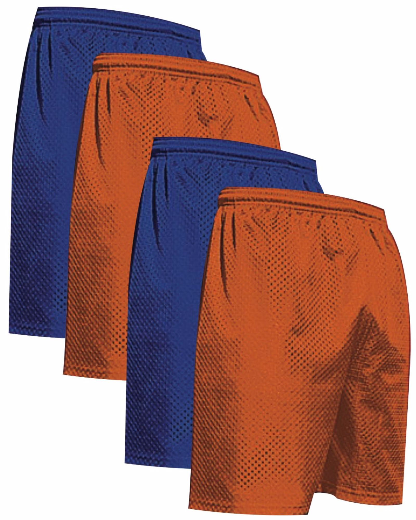 "VALUE PACK  > BUY 2 GET 2 FREE >  4 PACK > THE RAM BRAND > Men's  9"" Performance Pro Mesh Gym Champ Shorts (XS-4XL) $10 S/H is on the 1st Pack only. In this Pack: (3XL)(2Royal/2Orange)"