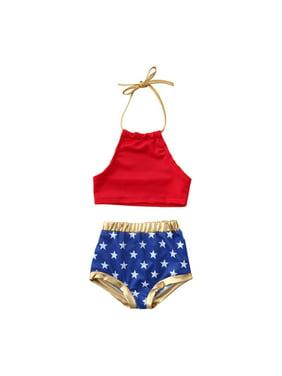 9adff8e0c1012 Product Image 4th of July Kids Baby Girls Summer Swimwear Bikini Tankini  Swimsuit Bathing Suit 2PCS Set