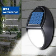 New 600LM Outdoor LED Solar Powerful Light Wall Mount Home Garden Path Fence Courtyard Lamp