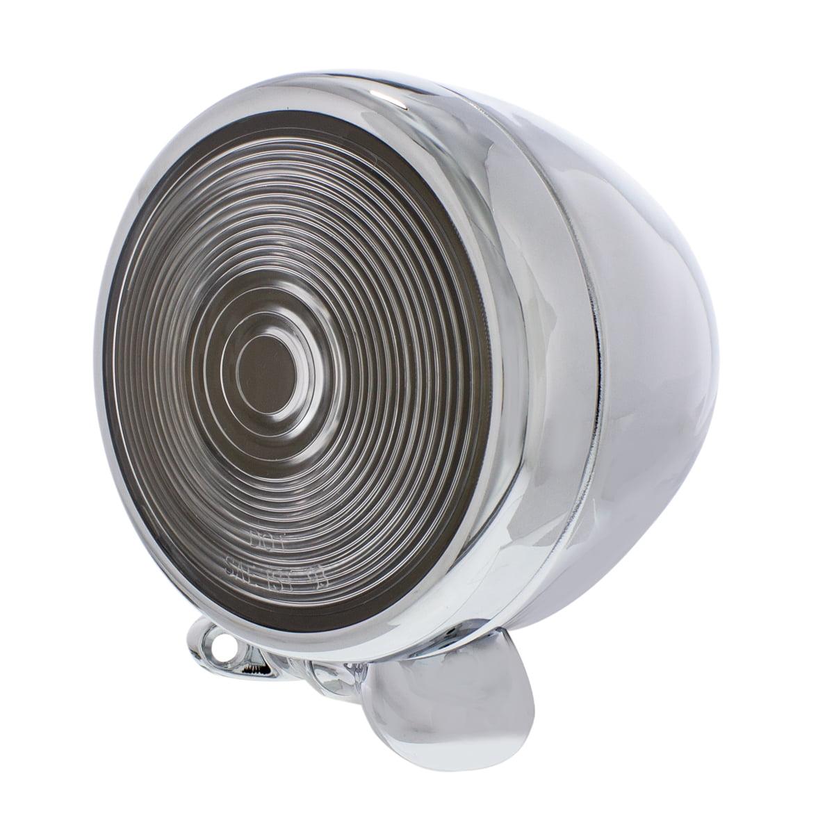 "5/"" Round Tear Drop Dummy Vintage Spot Light Chrome Metal Housing Hot Rat Rod"
