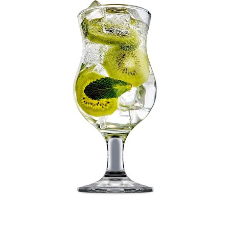 44590 Caribbean Daiquiri Wine Beer Glasses, Set of 4, Kitchen Entertainment Dinnerware Drinking Glassware for Water, Juice and Bar Liquor Dining Decor Beverage Gifts, 12 oz, Clear