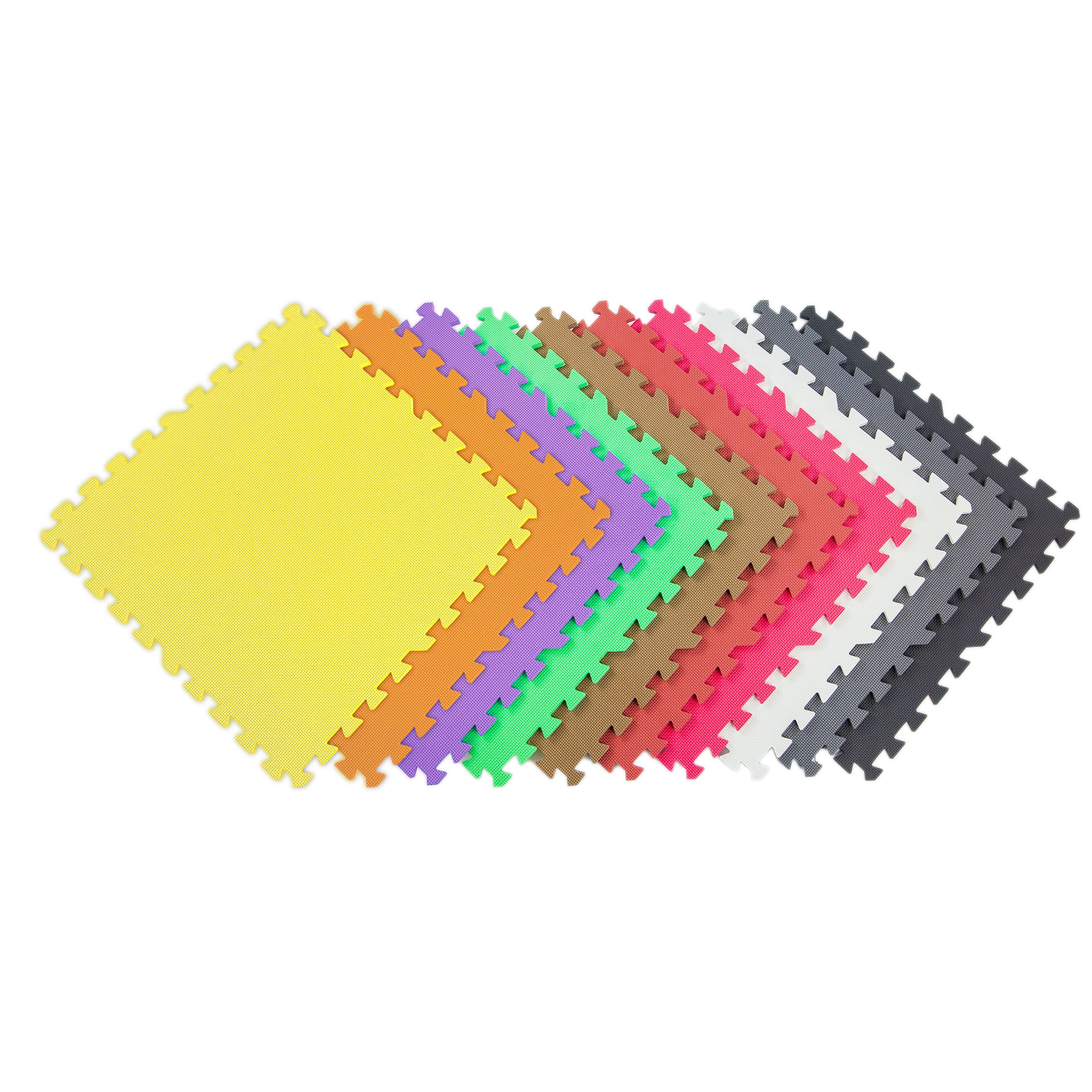 FlooringInc Eco Soft+ 2'x2' EVA Foam Tiles - (50 Graphite) Soft Flooring Play Mat, Gym Flooring