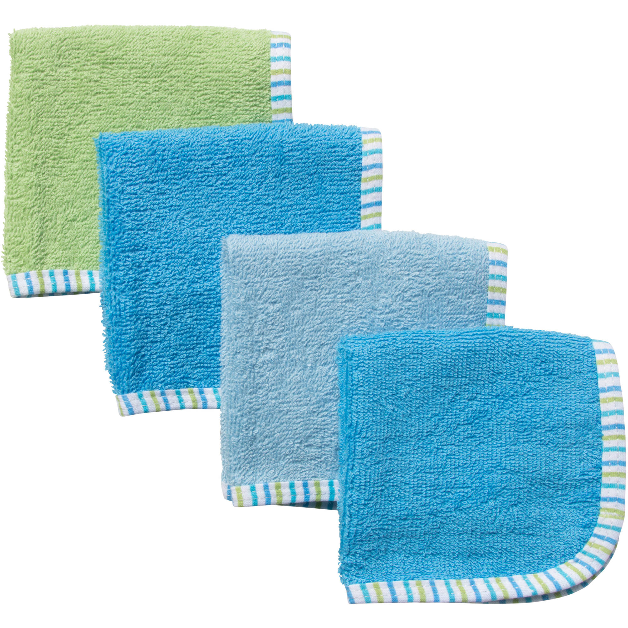 Gerber Newborn Baby Boy Solid Woven Washcloths - 4 Pack