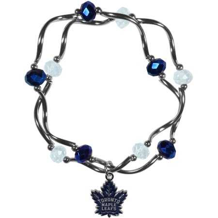Maple Leaf Bracelet (NHL Toronto Maple Leafs Stretch Bead Bracelet )