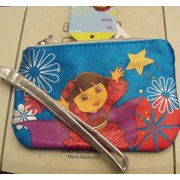 Dora the Explorer Child's Purse/wallet W/zipper New/tags BLUE by Nickelodeon