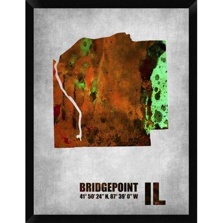 Naxart Bridgepoint Illinois Framed Graphic Art Print On Canvas