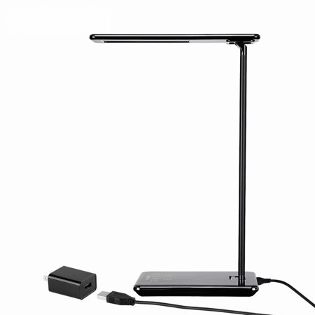 Magic Lite Desk Lamp - TORCHSTAR Dimmable LED Desk Lamp, 4 Lighting Modes (Reading/Studying/Relaxation/Bedtime), Fully Adjustable Brightness, Touch Sensitive Control, USB Charging Port, 1 & 2 Hour Auto Timer, Piano Black