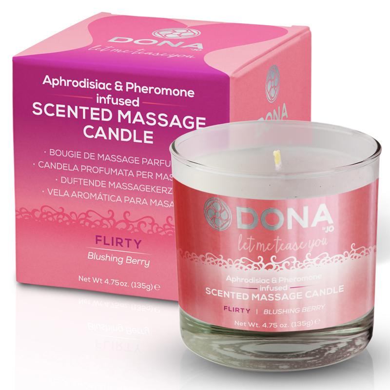 Dona Soy Massage Candle Flirty - Blushing Berry Net Wt 4.75 Oz