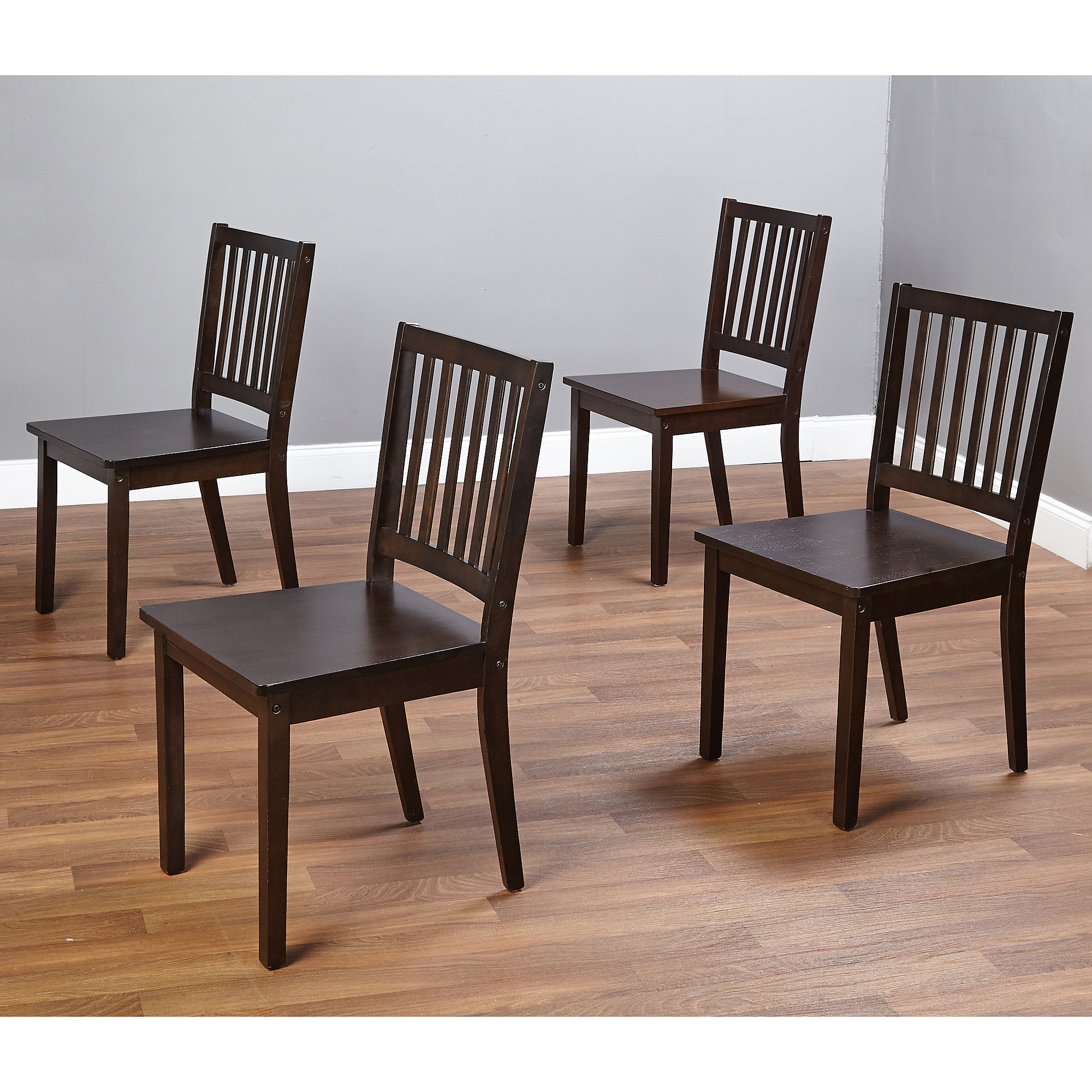 Shaker Dining Chairs, Set of 4, Espresso by n/a