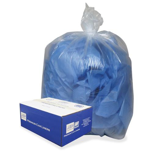 "Webster Trash Bag - 56 Gal - 43"" X 47"" - 0.85 Mil [22 Micron] Thickness - Low Density - 100/carton - Clear, Translucent (434722c)"