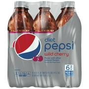 (4 Pack) Diet Pepsi Wild Cherry Cola, 16.9 Fl Oz, 6 Count