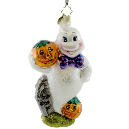 Christopher Radko SPOOKY SPIRIT Blown Glass Ornament Halloween Ghost - Halloween Spirt Store