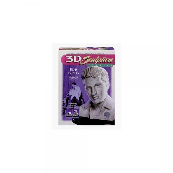 3D Sculpture Puzzles ELVIS PRESLEY by Milton Bradley by