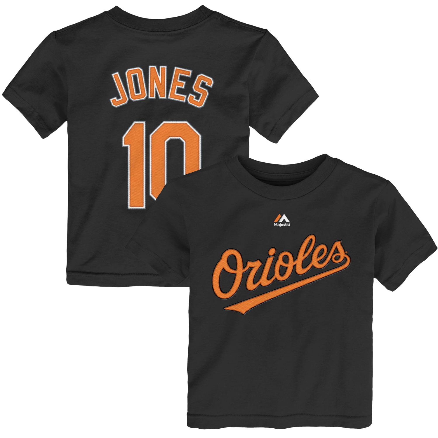 Adam Jones Baltimore Orioles Majestic Toddler Player Name & Number T-Shirt - Black