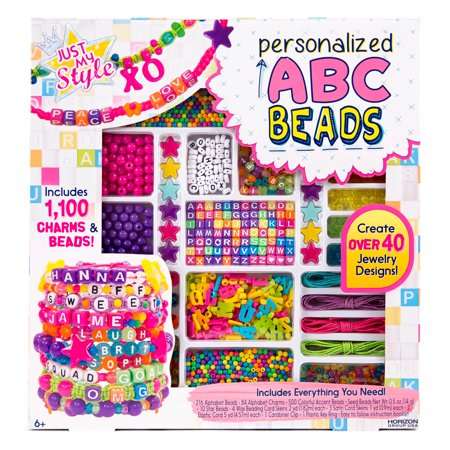 Just My Style Personalized ABC Beads Kit by Horizon Group USA