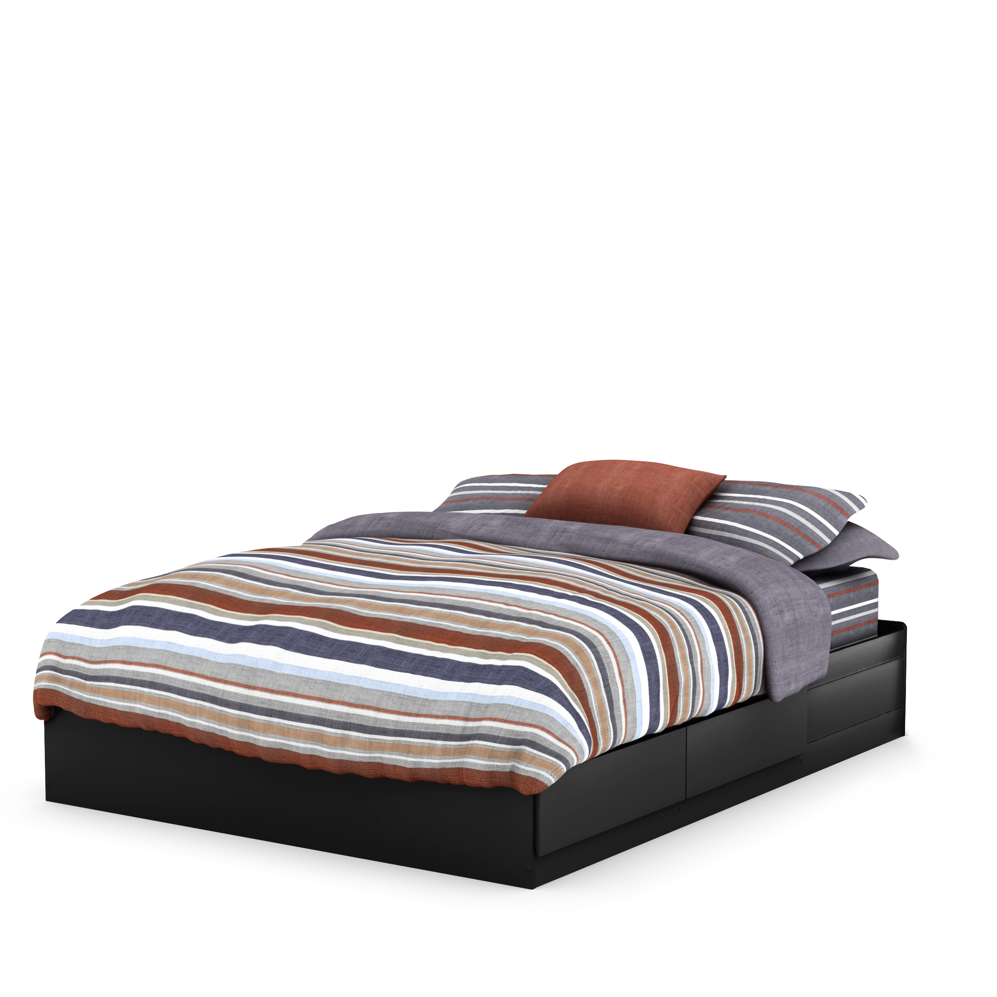 South Shore Fusion Queen Mates Bed (60''), Multiple Finishes