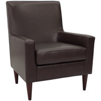 Emma Arm Chair - Leatherette Walnut
