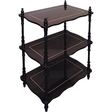 Traditional Decorative 3 Tier Shelf, Cherry
