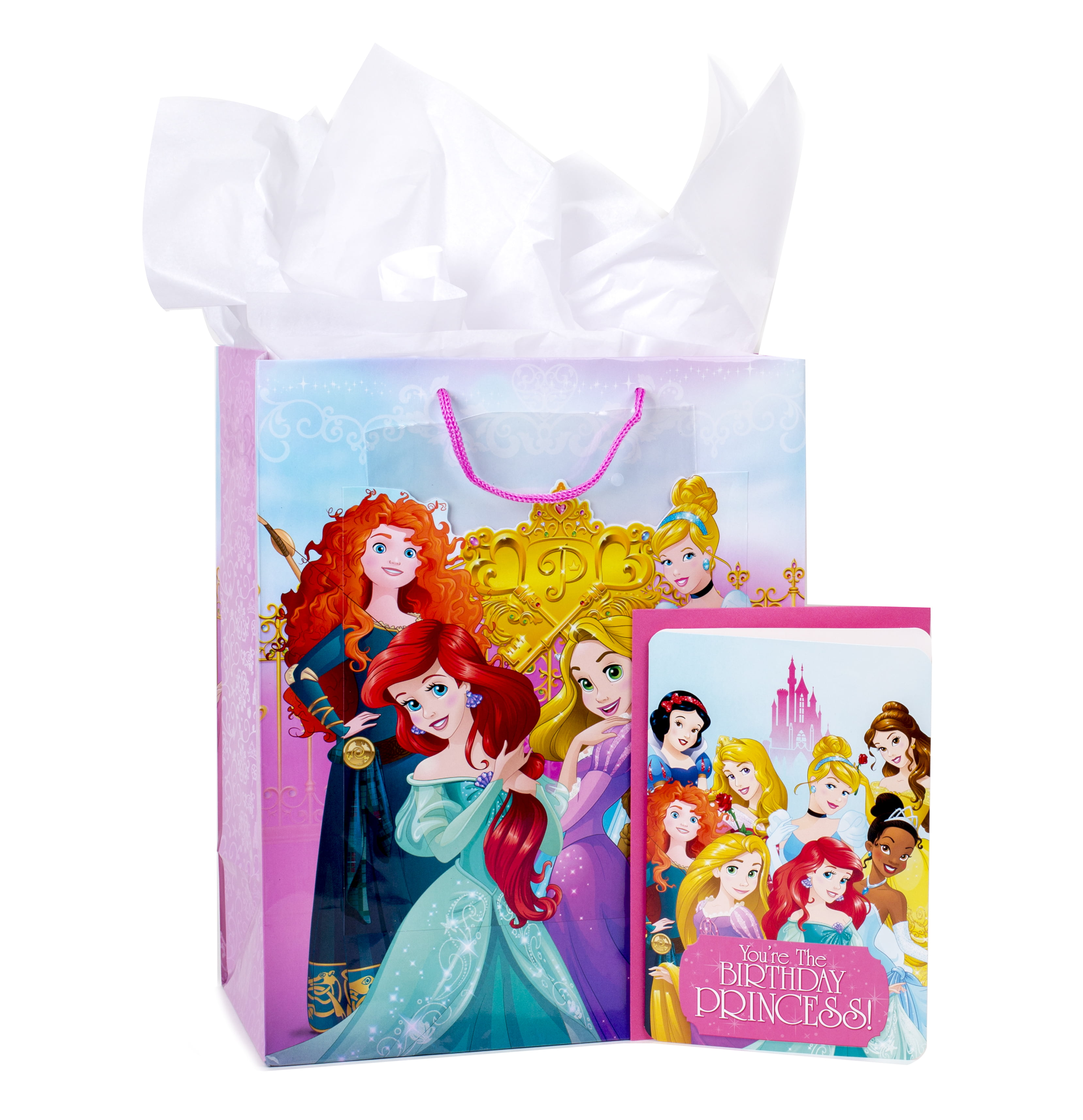 Hallmark Disney Princess Large Birthday Gift Bag With Card And Tissue Paper