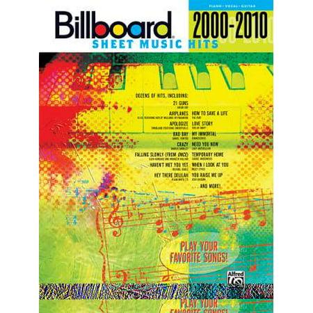 Billboard Sheet Music Hits 2000-2010 : Piano/Vocal/Guitar