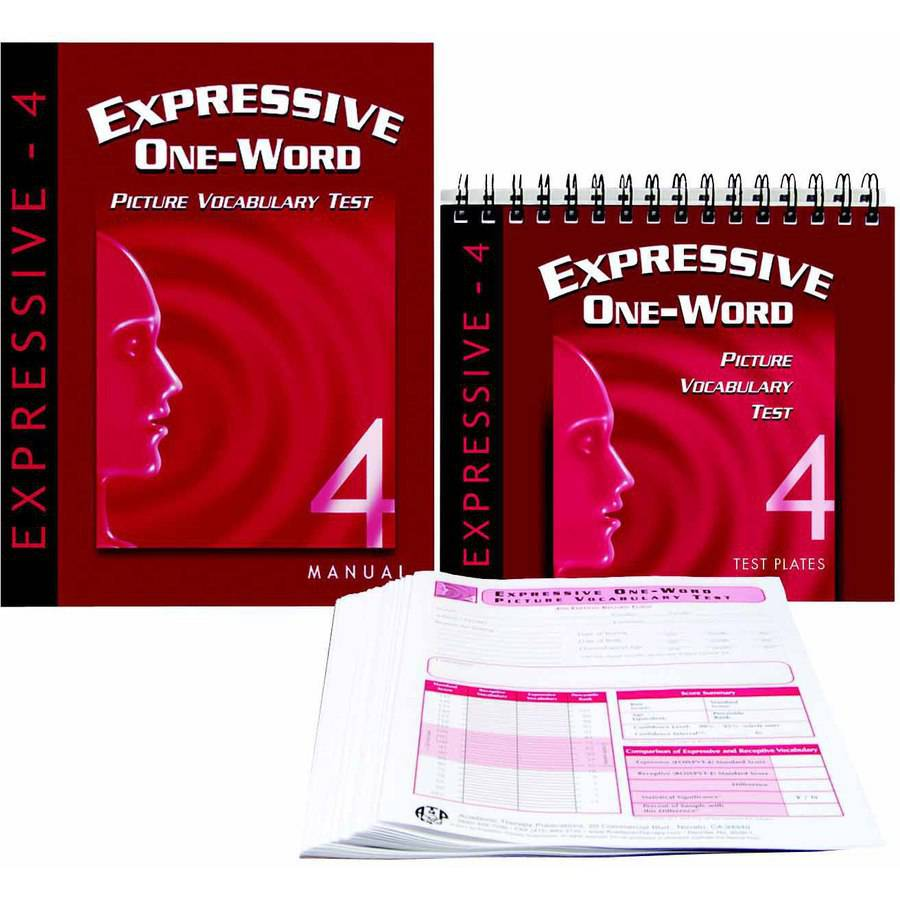 Image of Academic Therapy Publications Expressive One Word Picture Vocab Test 4th Edition, Set of 25 Forms
