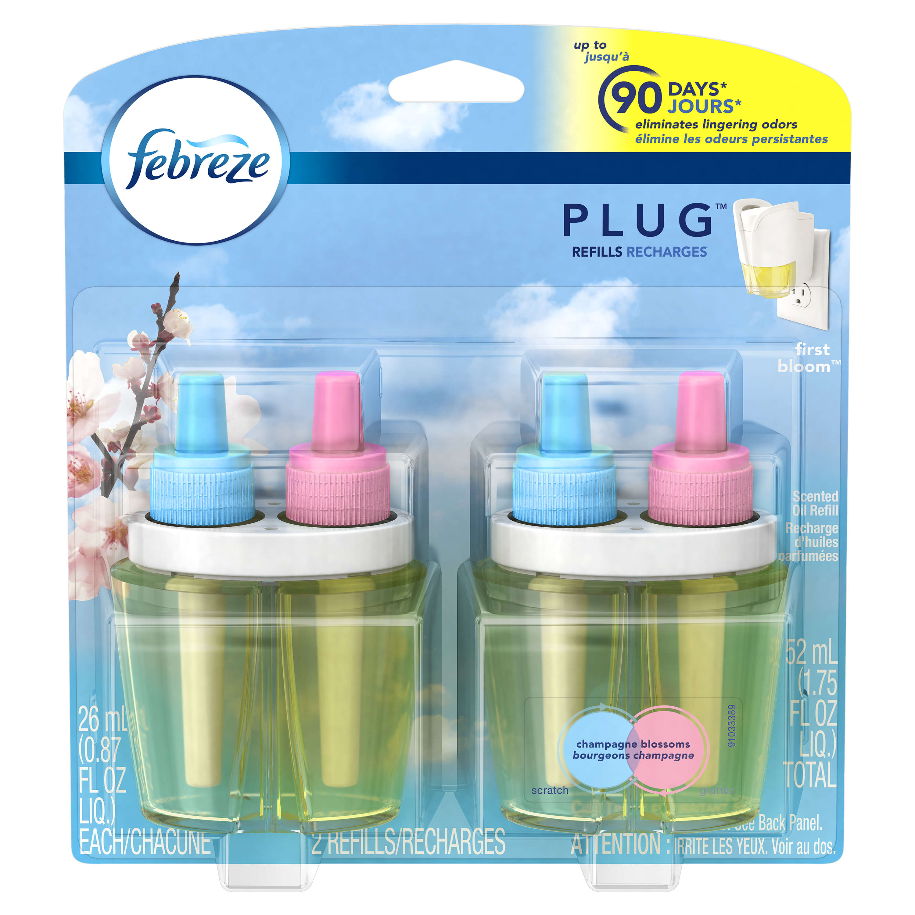 Febreze PLUG Air Freshener Refills First Bloom (2 Count, 1.75 oz)