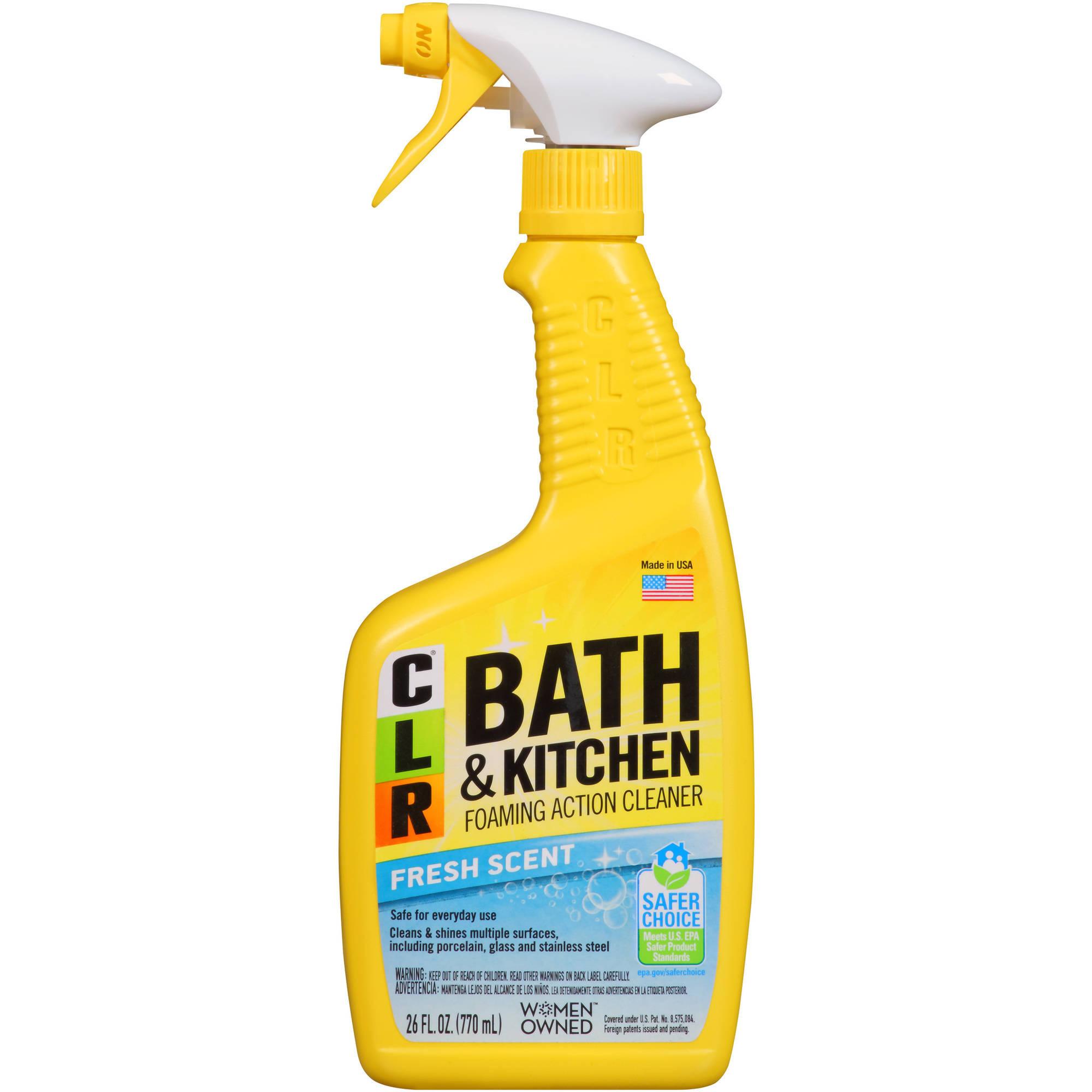 clr bath & kitchen cleaner, 26 fl oz, fresh scent spray - walmart